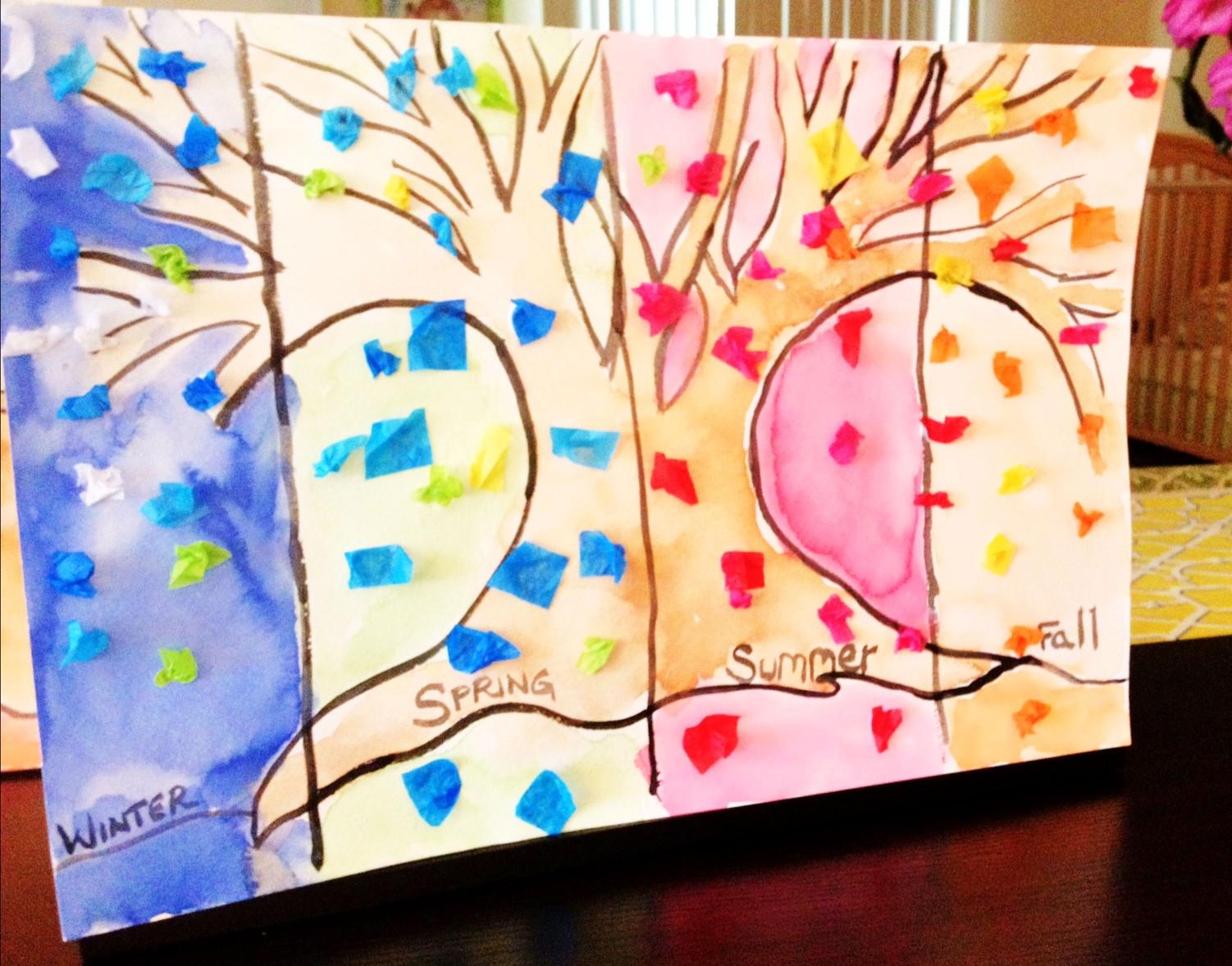 Season Crafts For Preschoolers  52 Week FunSchool The Seasons Craft Tutorial