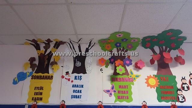 Season Crafts For Preschoolers  Seasons Craft Ideas for Preschool Preschool and Kindergarten