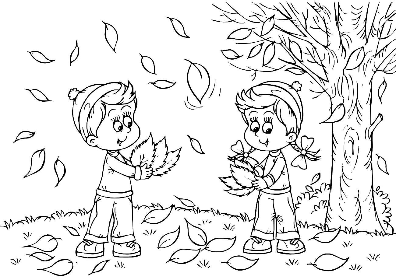 Seasons Coloring Pages  Fall Coloring Pages