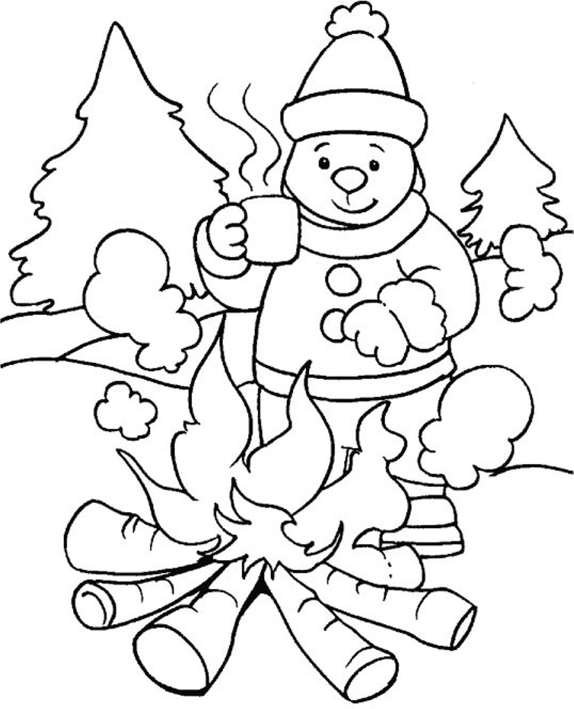 Seasons Coloring Pages  Winter Coloring Pages
