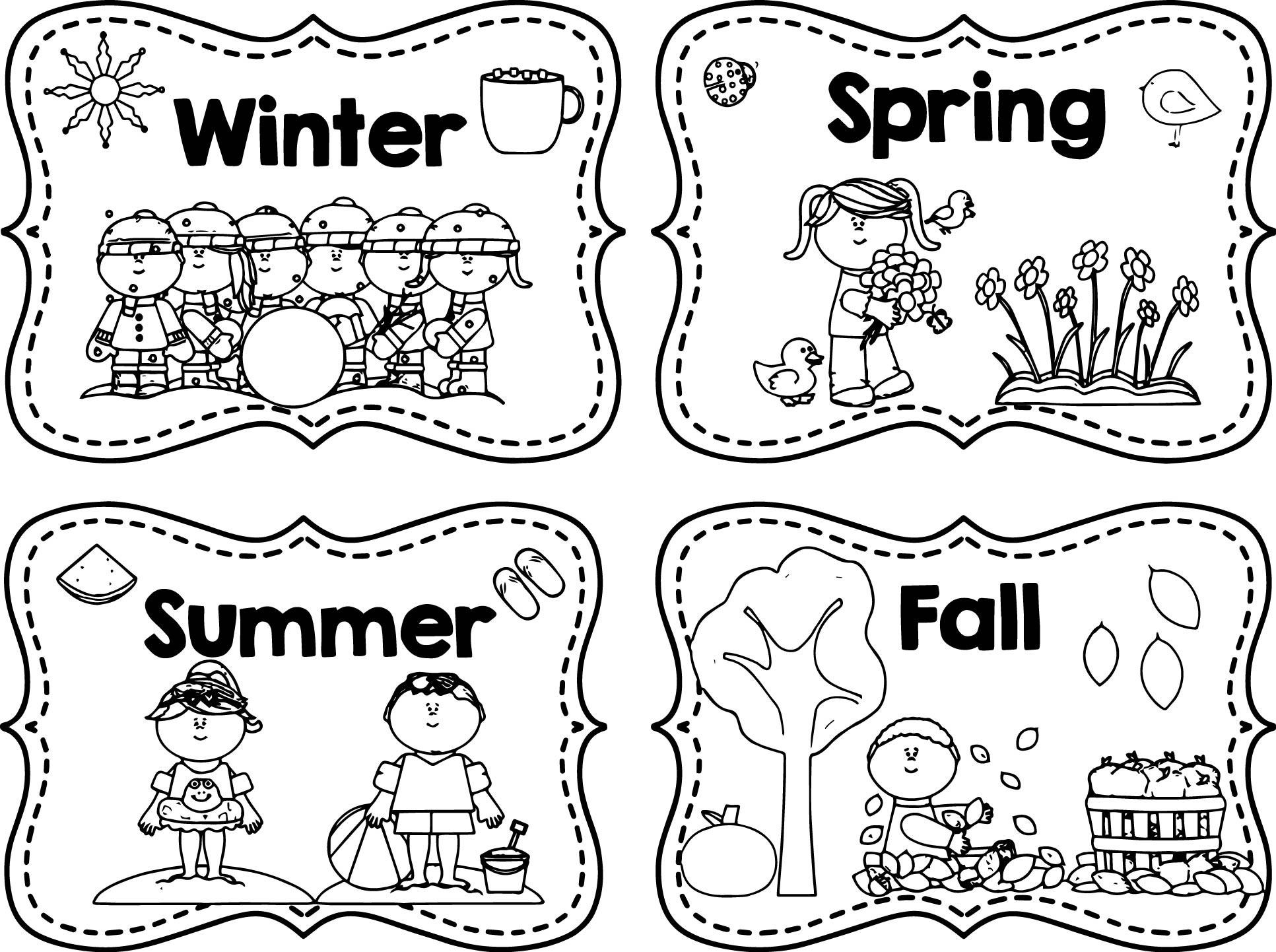 Seasons Coloring Pages  4 Seasons Coloring Pages to Print