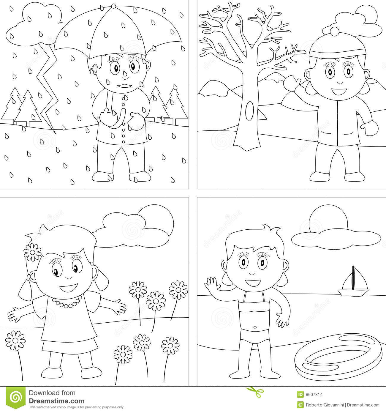Seasons Coloring Pages  8 Best of Free Printable Winter Clothes Worksheet