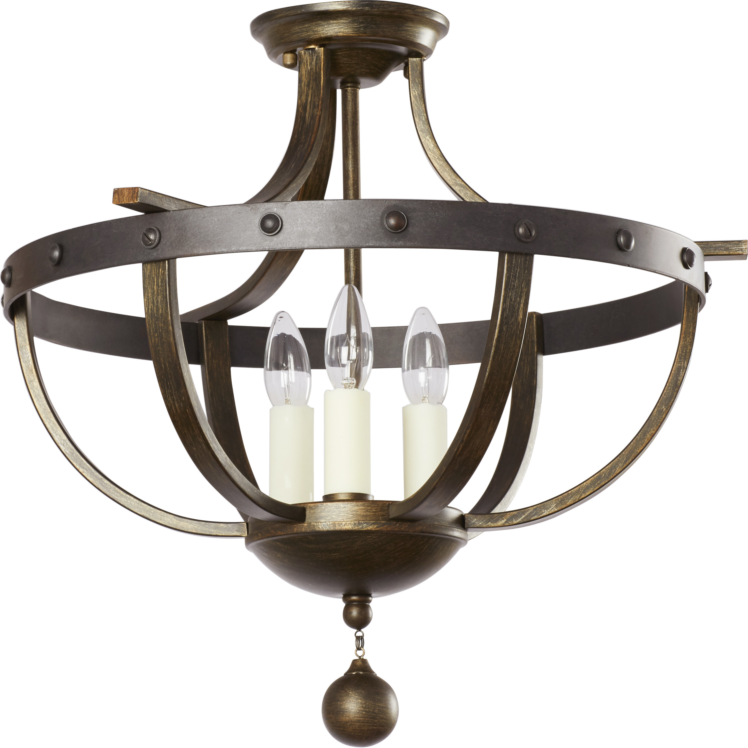 Best ideas about Semi Flush Mount Lighting . Save or Pin August Grove Betty Jo 3 Light Semi Flush Mount & Reviews Now.