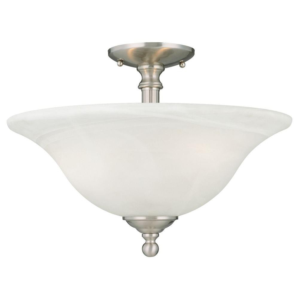 Best ideas about Semi Flush Mount Lighting . Save or Pin Thomas Lighting Riva 3 Light Brushed Nickel Ceiling Semi Now.