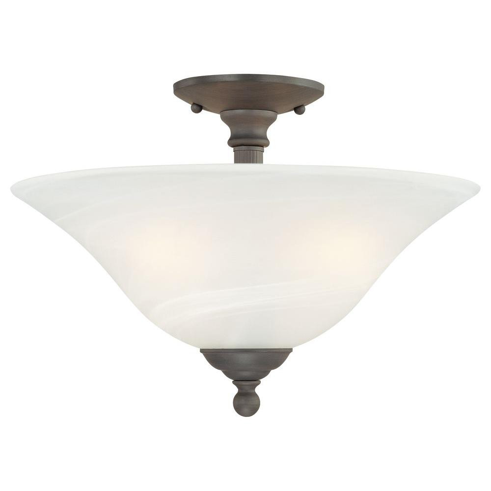 Best ideas about Semi Flush Mount Lighting . Save or Pin Thomas Lighting Riva 3 Light Painted Bronze Ceiling Semi Now.