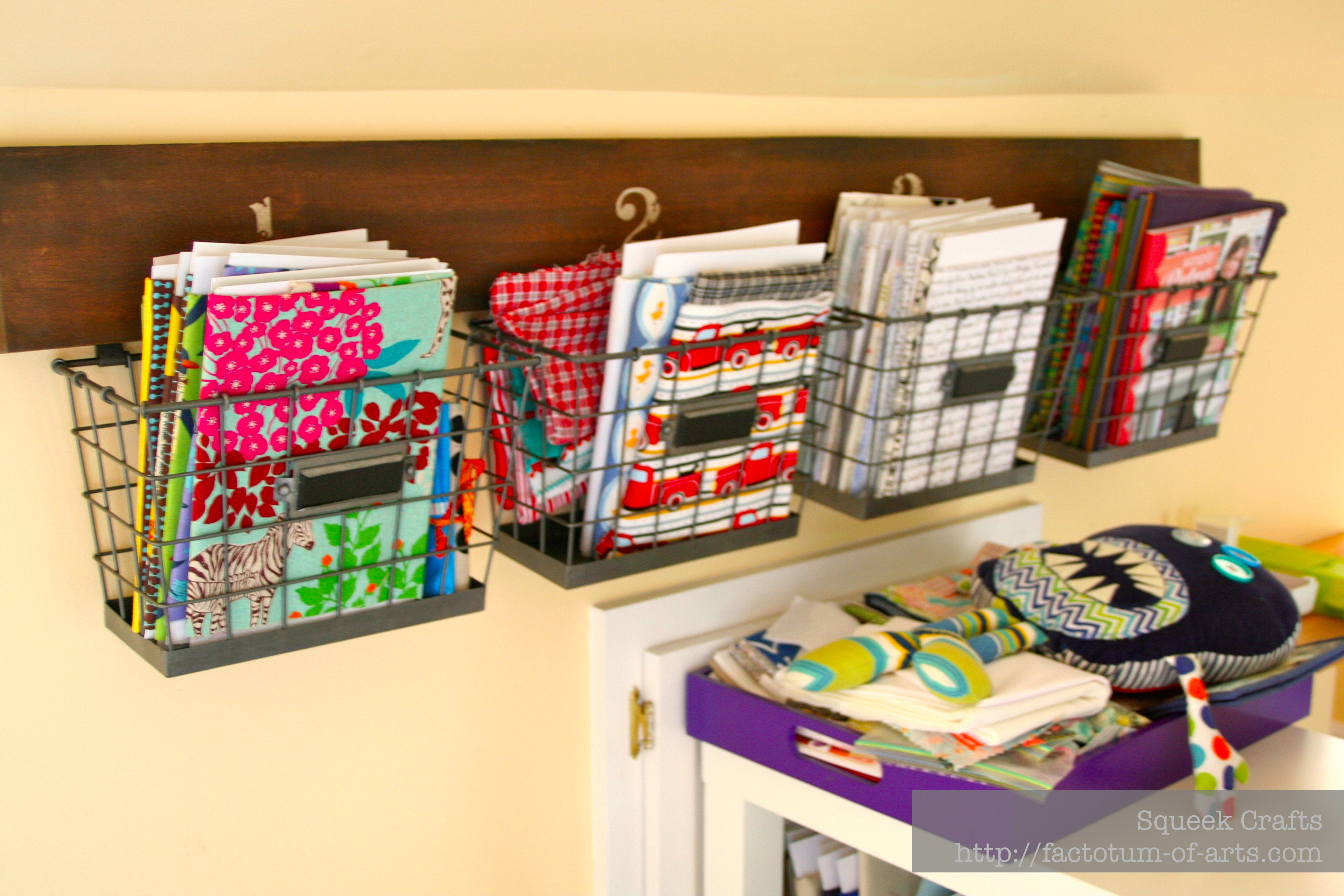 Best ideas about Sewing Storage Ideas . Save or Pin Organizing my sewing room Now.