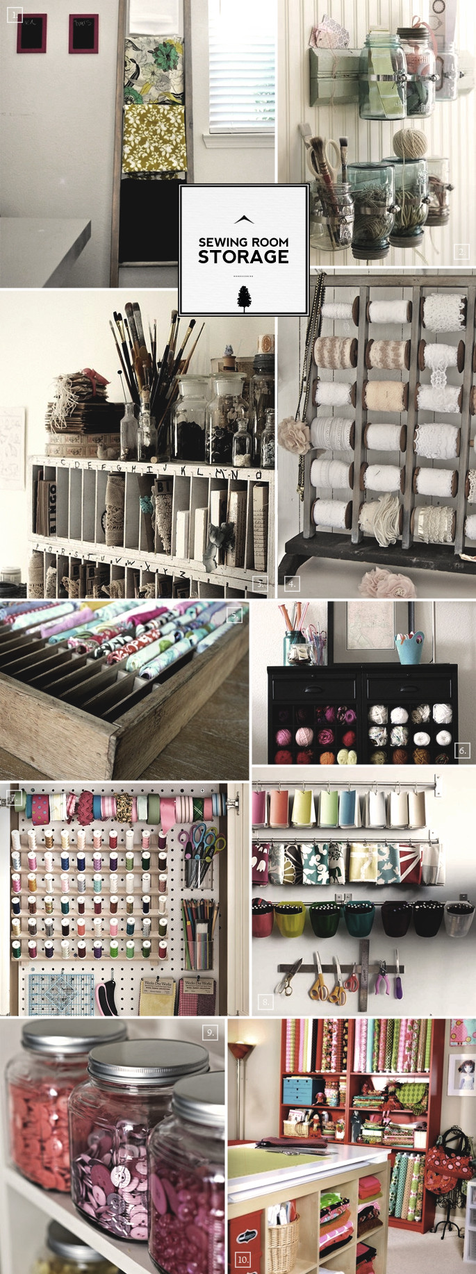 Best ideas about Sewing Storage Ideas . Save or Pin Sewing Room Organization Ideas From Storage to Display Now.