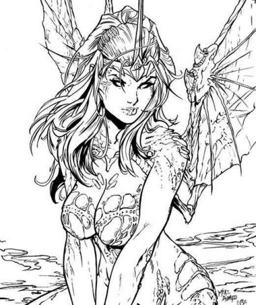 Sexy Adult Coloring Books  Fairy Coloring Pages and Books