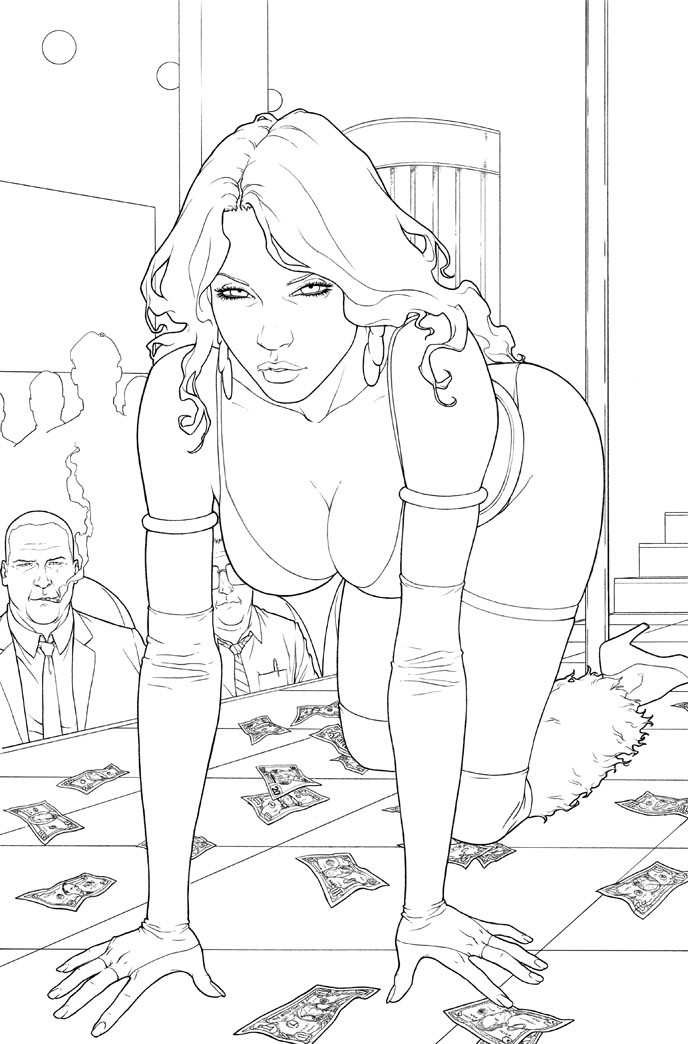Sexy Adult Coloring Books  SDCC 2011 Preview Art from Animal Man Swamp Thing