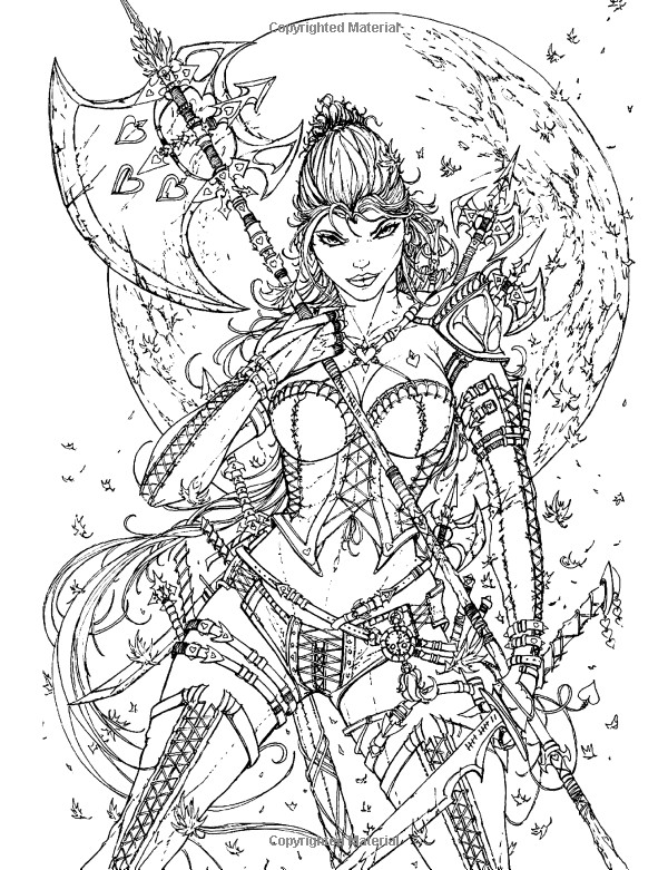 Sexy Adult Coloring Books  Pin by Margit Ernstsen on y Fan Art Coloring