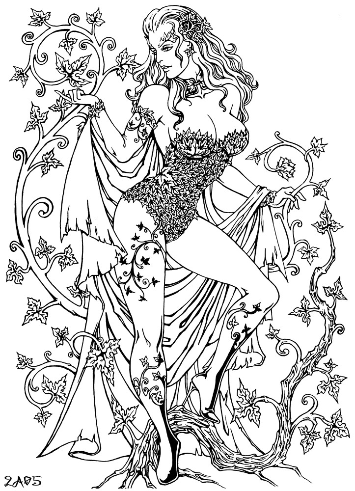 Sexy Adult Coloring Books  Poison Ivy by Candra on DeviantArt