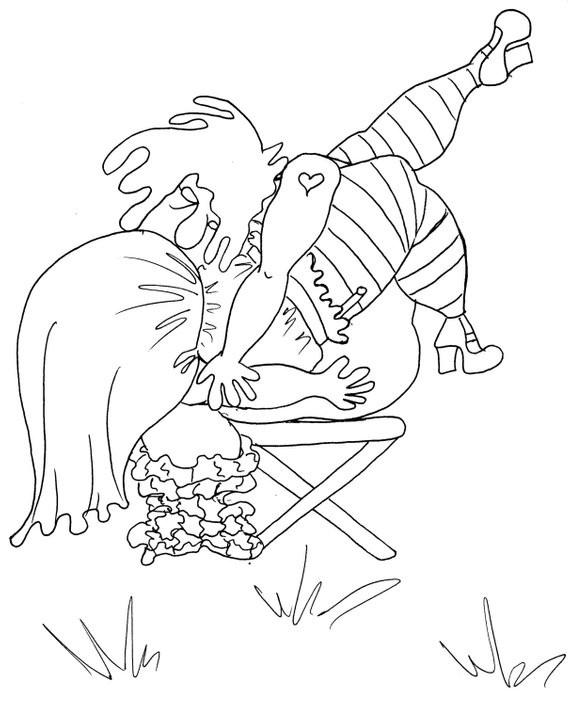 Sexy Adult Coloring Books  The Waterfall y Coloring Pages for Adults from the Chubby