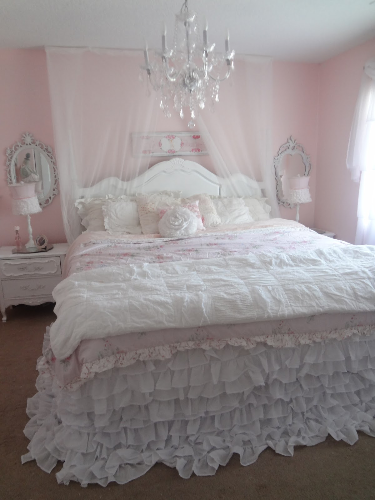 Best ideas about Shabby Chic Bedding . Save or Pin Not So Shabby Shabby Chic My new ruffly bedding Now.