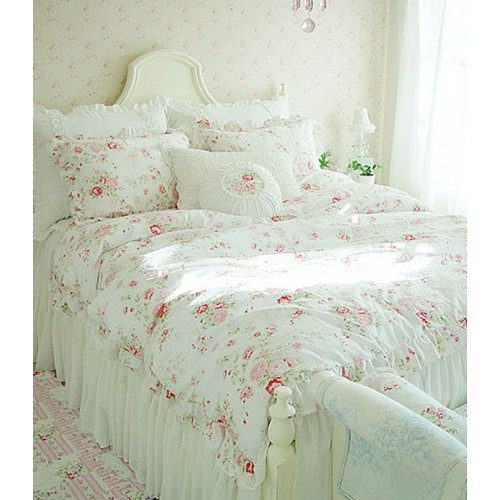 Best ideas about Shabby Chic Bedding . Save or Pin White Shabby Chic Bedding White Gathered King Duvet Cover Now.