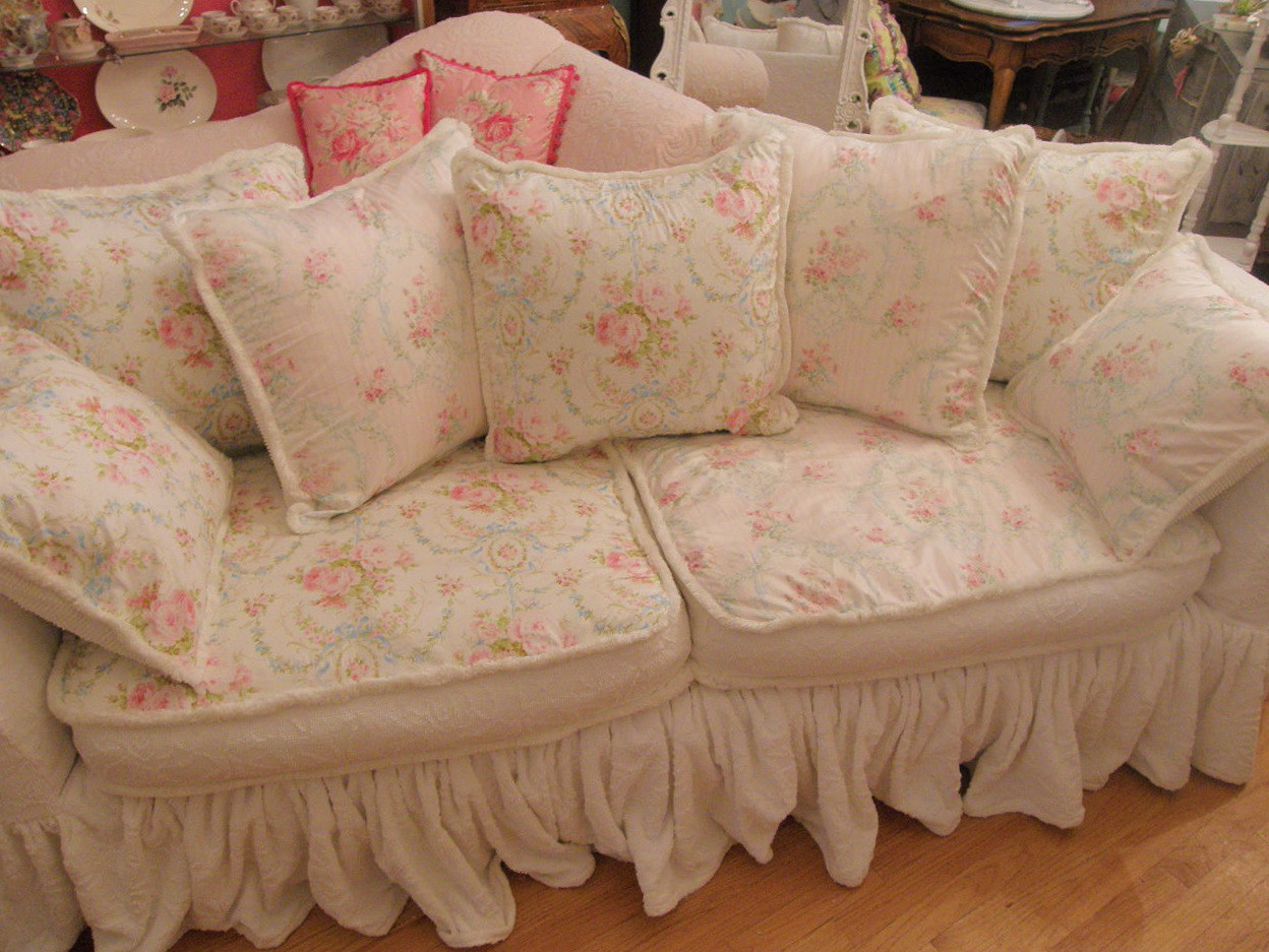 Best ideas about Shabby Chic Loveseat . Save or Pin Shabby Chic Sofa Covers Rachel Ashwell White Denim Sofa Now.