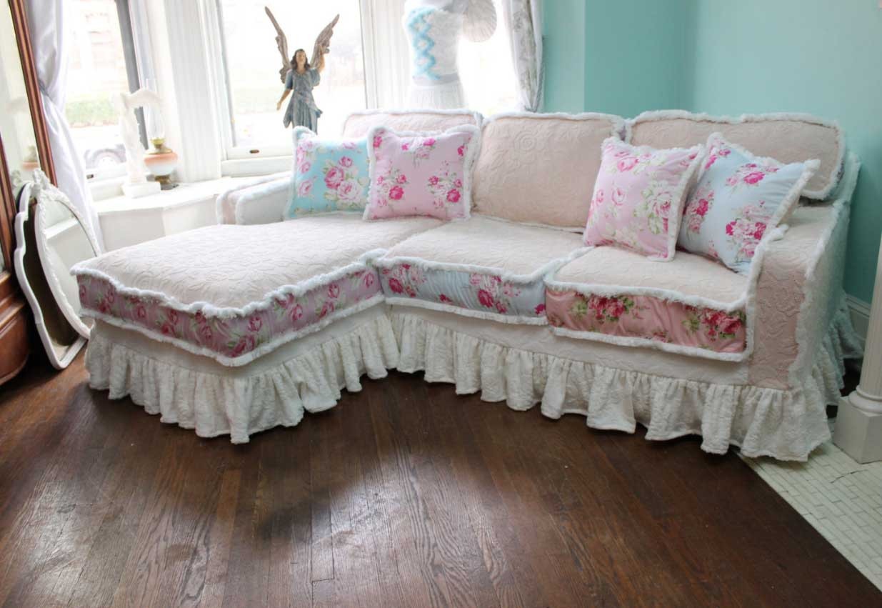 Best ideas about Shabby Chic Loveseat . Save or Pin Shabby Chic Sofa Slipcover Shabby Chic Sofa Slipcover Now.