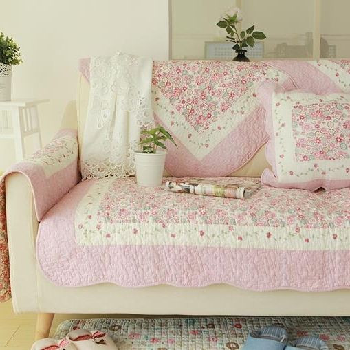 Best ideas about Shabby Chic Loveseat . Save or Pin Shabby Chic Cottage Country Quilted Couch Sofa Loveseat Now.