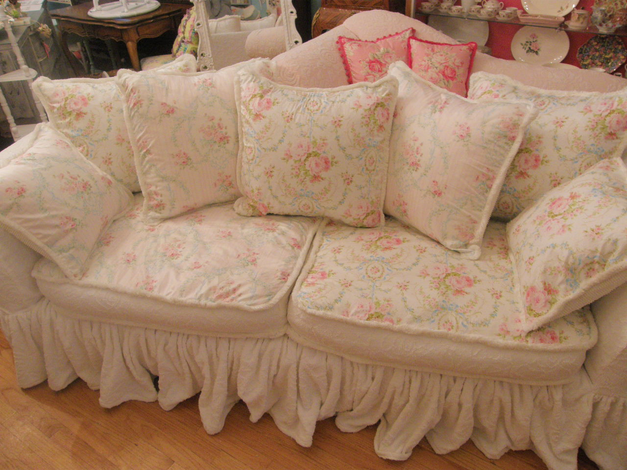 Best ideas about Shabby Chic Loveseat . Save or Pin Vintage Chic Furniture Schenectady NY Shabby Chic Now.