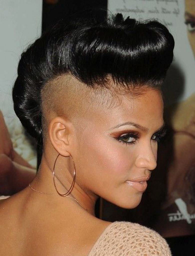 Shaved Undercut Hairstyle  Top 15 Most Badass Shaved Hairstyles for Black Women 2018