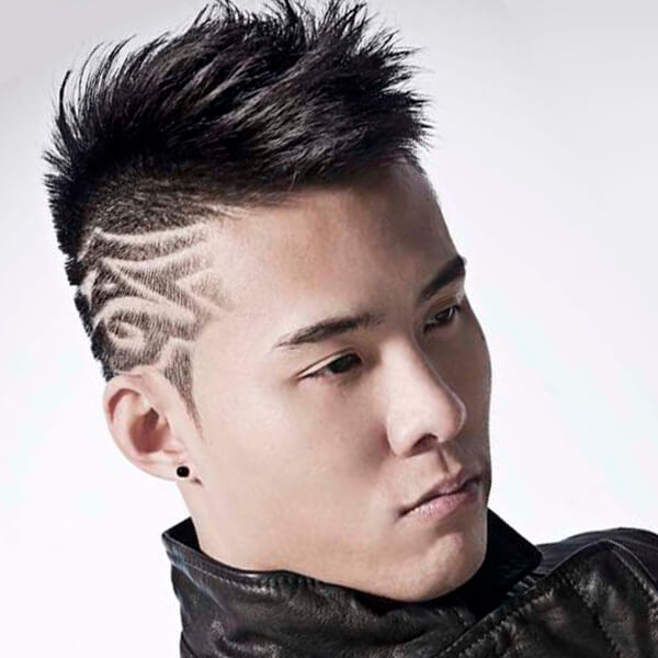 Shaved Undercut Hairstyle  Undercut Designs Male