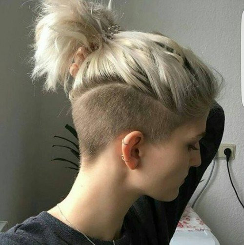 Shaved Undercut Hairstyle  Undercut Ponytail Hairstyle