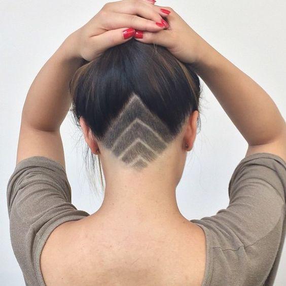 Shaved Undercut Hairstyle  Undercut Shaved Designs for Women Hair World Magazine