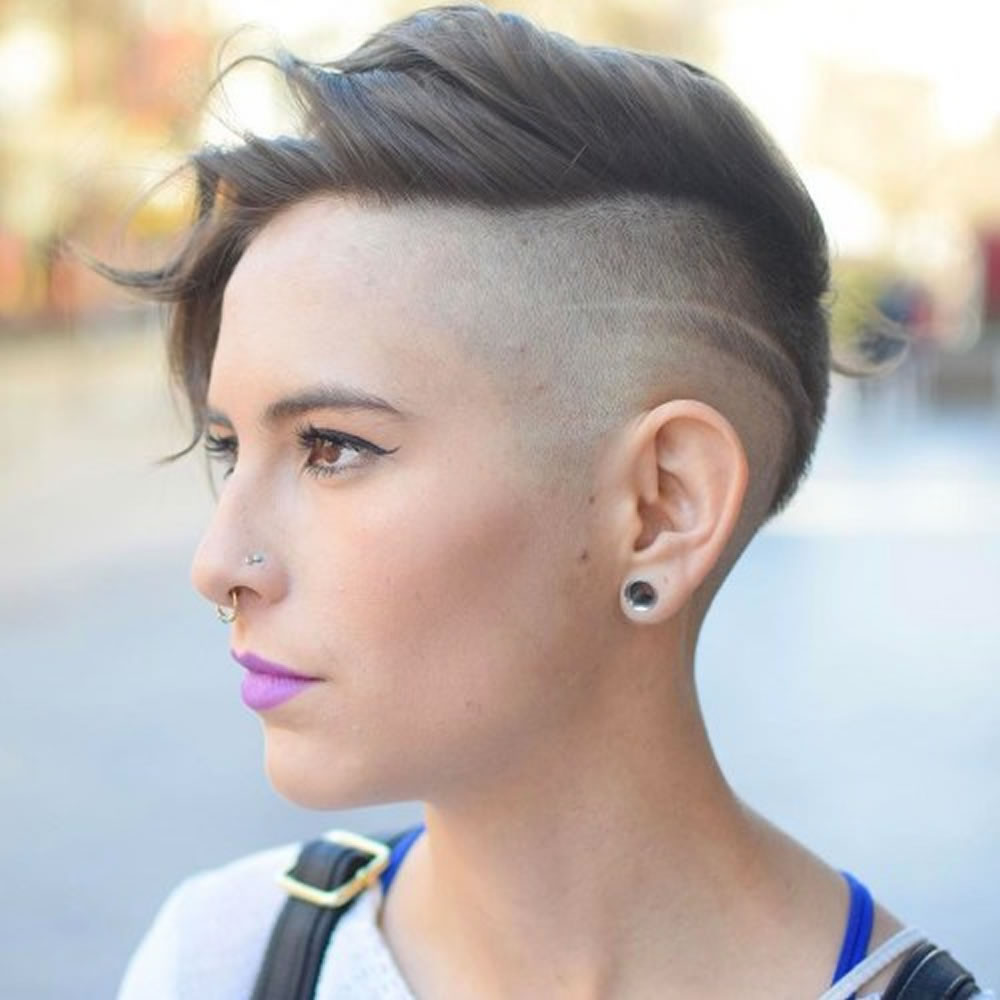 Shaved Undercut Hairstyle  Undercut Short Pixie Hairstyles for La s 2018 2019