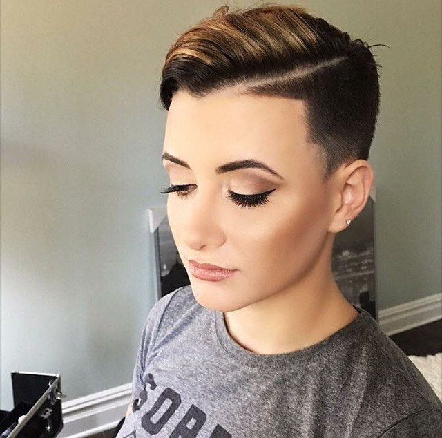 Shaved Undercut Hairstyle  60 Modern Shaved Hairstyles And Edgy Undercuts For Women