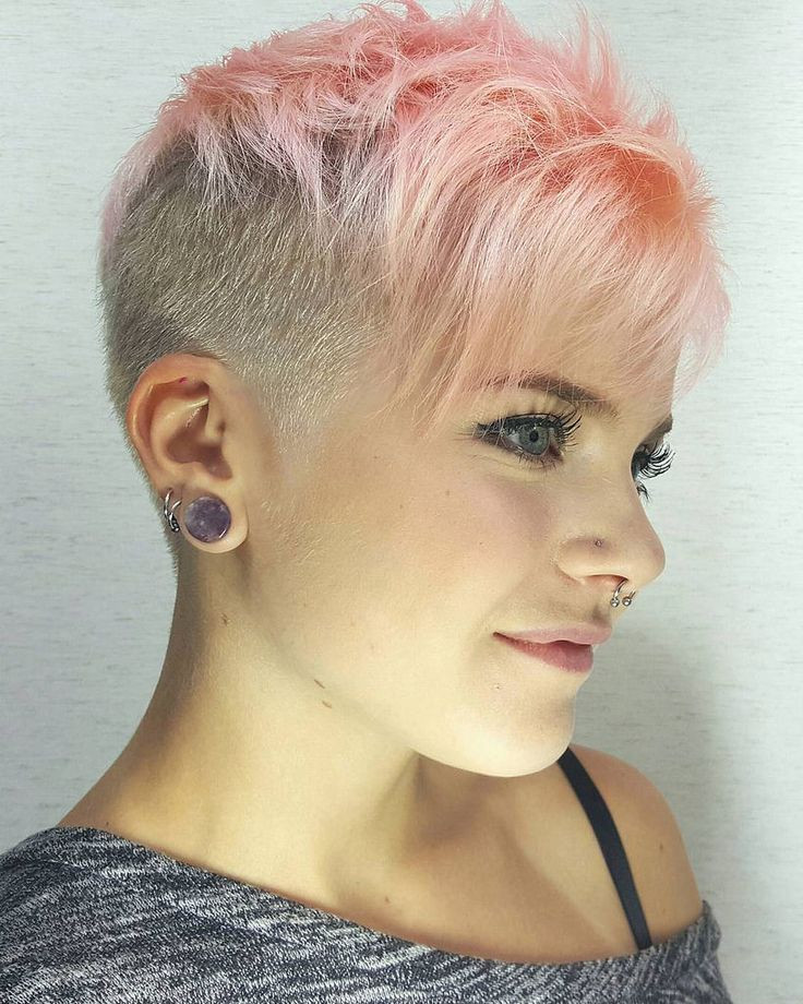 Best ideas about Shaved Undercut Hairstyles . Save or Pin Pixie Cut With Shaved Back Now.