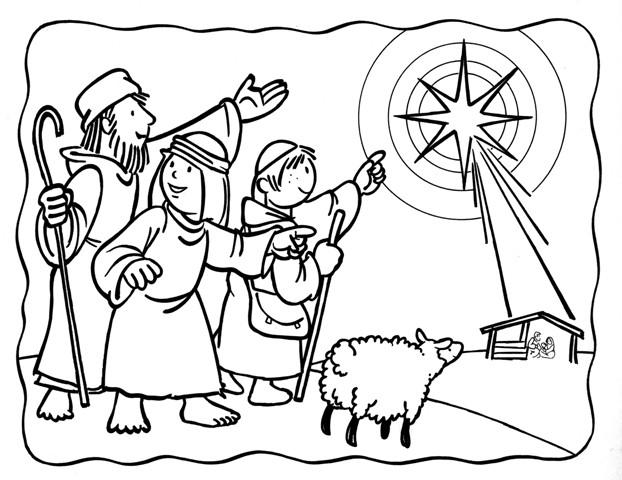 Shepherds Coloring Pages  Advent Coloring Pages Free Printable
