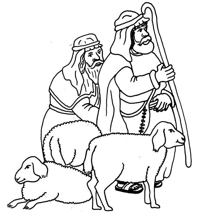 Shepherds Coloring Pages  Sleeping Shepherds Coloring Coloring Pages