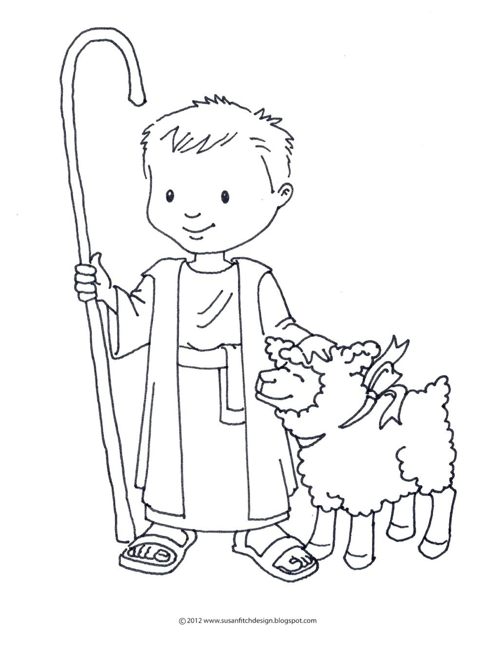 Shepherds Coloring Pages  The Good Shepherd Book Coloring Pages Adult German Boy