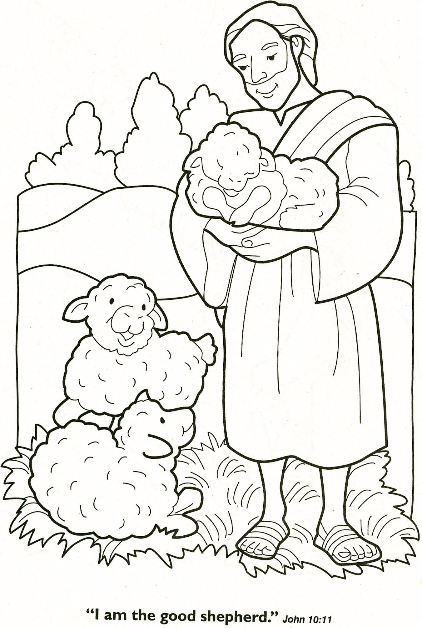 Shepherds Coloring Pages  The Good Shepherd