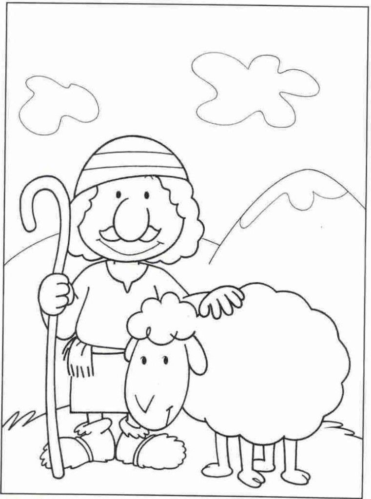 Shepherds Coloring Pages  Shepperd Free Colouring Pages