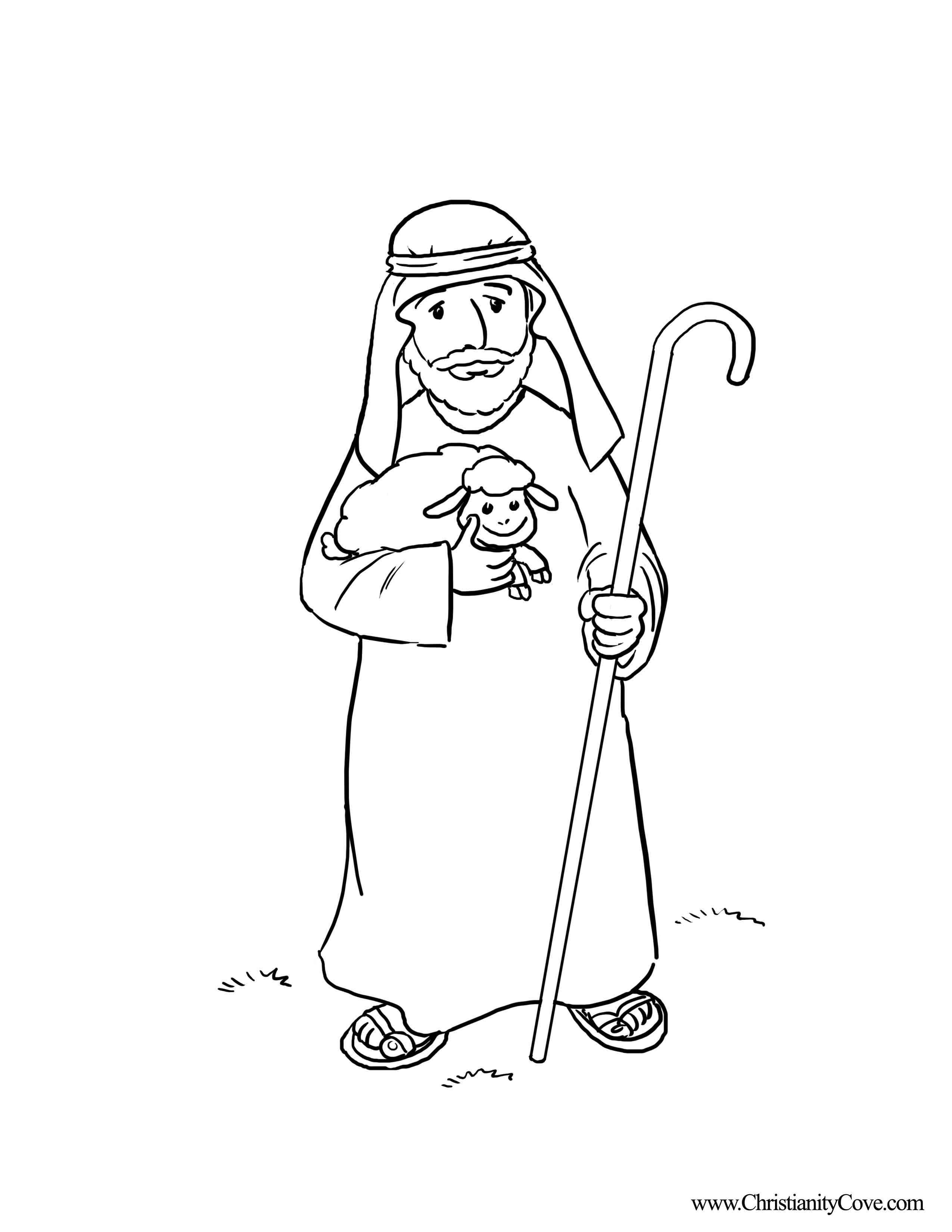 Shepherds Coloring Pages  Good Shepherd Coloring Pages Free Coloring Home