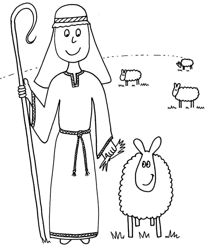 Shepherds Coloring Pages  Parable of the Good Shepherd