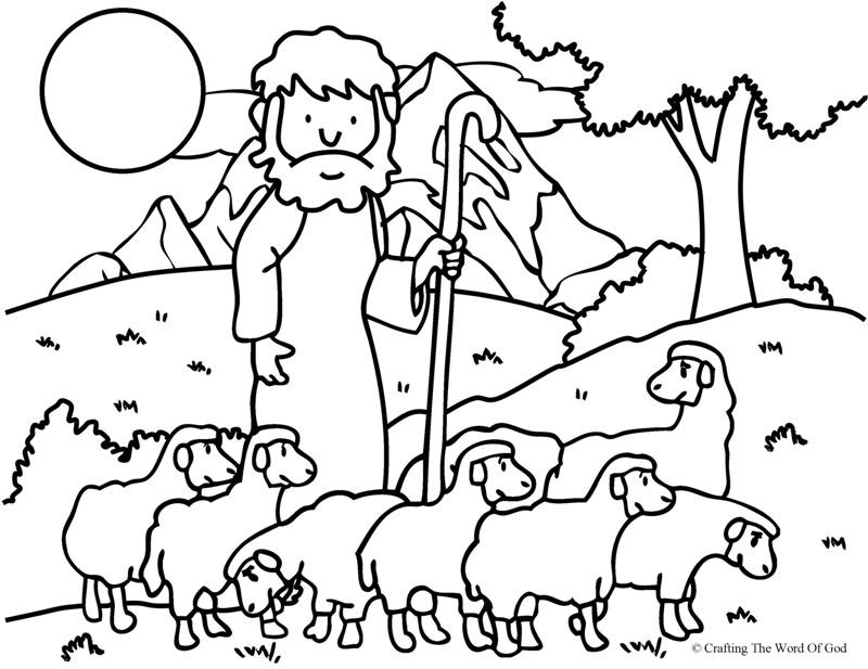 Shepherds Coloring Pages  The Good Shepherd The Lost Sheep Coloring Page