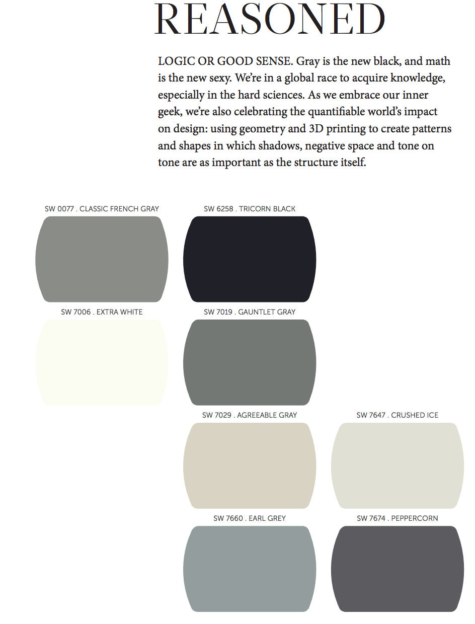 Best ideas about Sherwin Williams Paint Colors Gray . Save or Pin Favorites from the 2014 Paint Color Forecast Paint It Monday Now.
