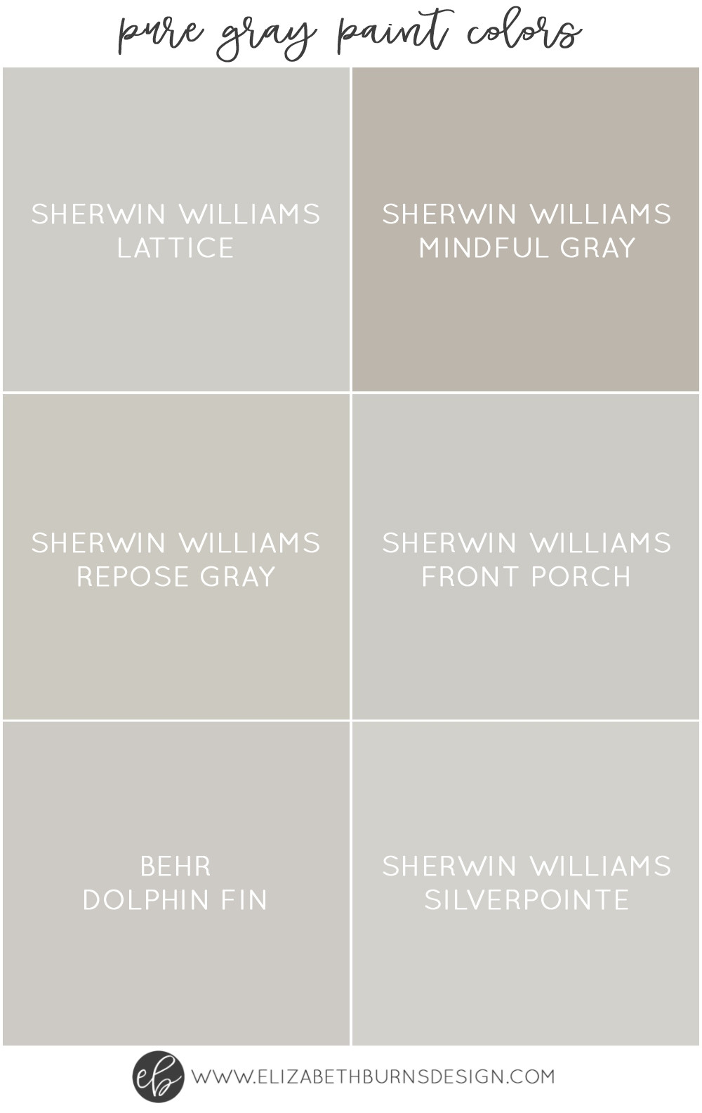 Best ideas about Sherwin Williams Paint Colors Gray . Save or Pin The Best Pure Grey Paint Colors Now.