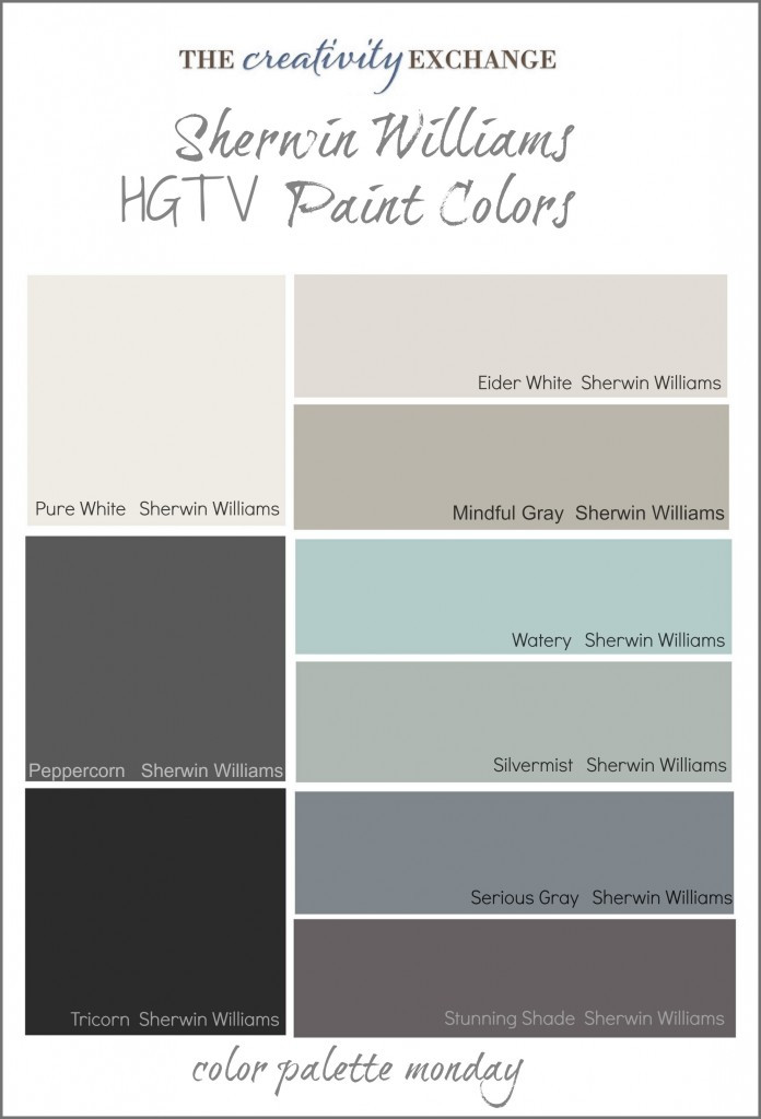 Best ideas about Sherwin Williams Paint Colors Gray . Save or Pin HGTV Paint Colors from Sherwin Williams Now.