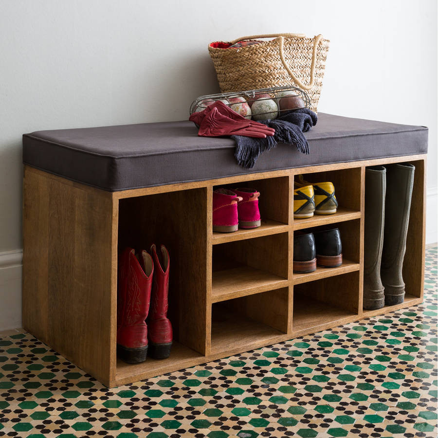 Best ideas about Shoe Benches Entryway . Save or Pin shoe storage bench by within home Now.