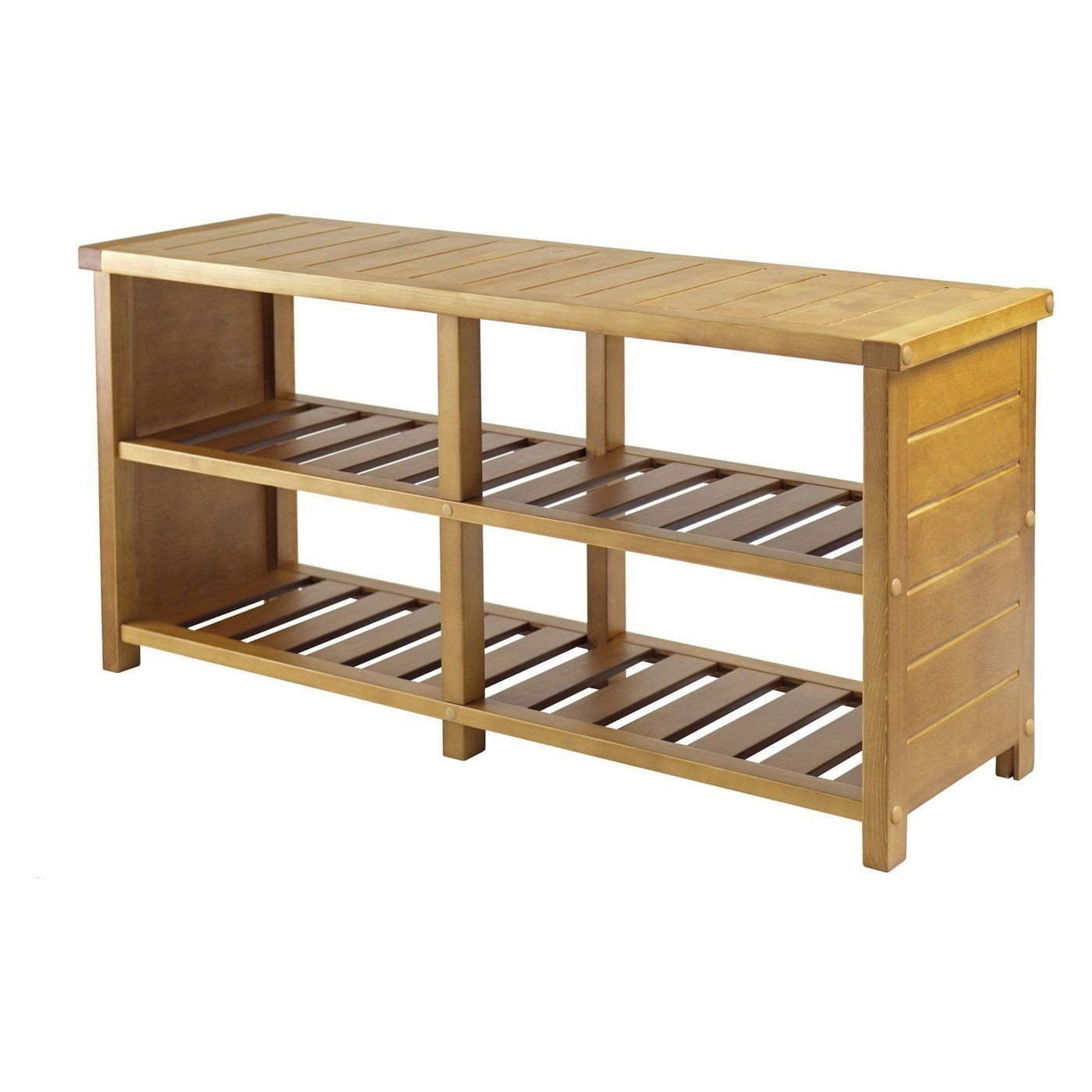 Best ideas about Shoe Benches Entryway . Save or Pin Shoe Storage Bench Wood Organizer Accent Rack Entryway Now.