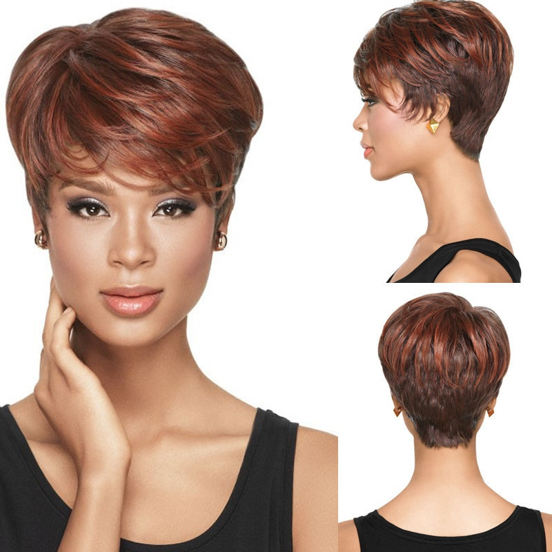 Short Black Hairstyle Wigs  1PC Natural Wig African American Short Hairstyles Wigs for