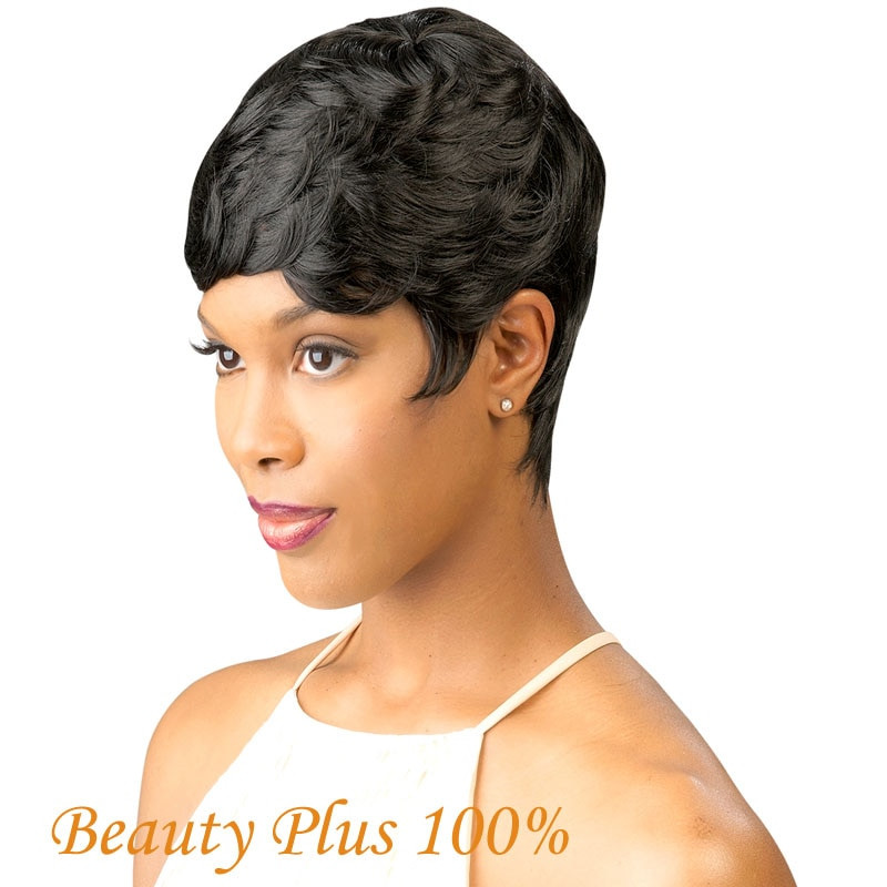 Short Black Hairstyle Wigs  Best Seller Vogue Wig Short Black 3 styles Female Wavy