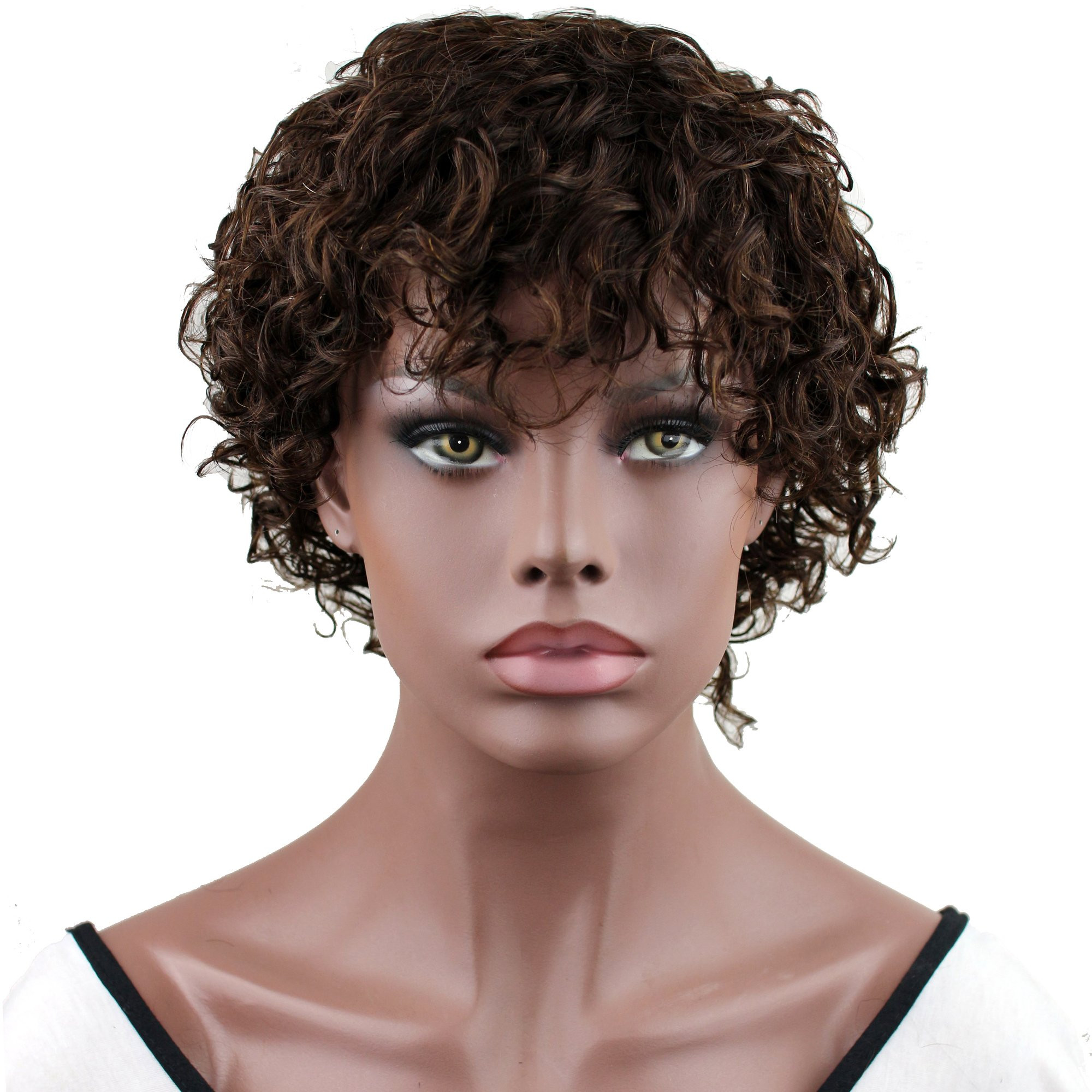 Short Black Hairstyle Wigs  Amazon Dreambeauty Short Natural Full Wig 100