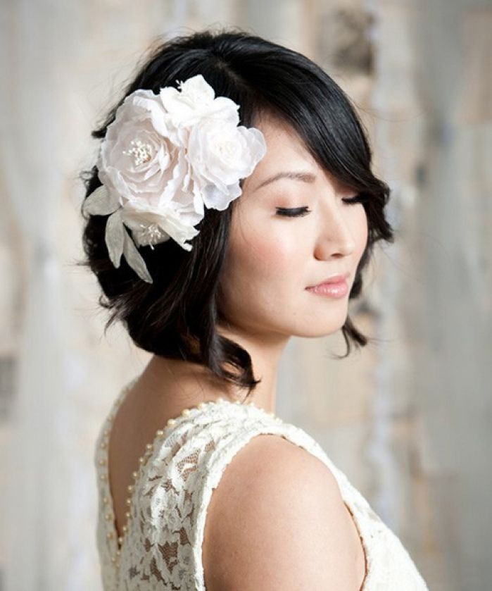 Short Bridesmaid Hairstyles  Wedding Hairstyles for Short Hair – Dipped In Lace