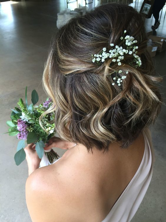 Short Bridesmaid Hairstyles  Most Beautiful Wedding Hairstyle Ideas For Short Hair