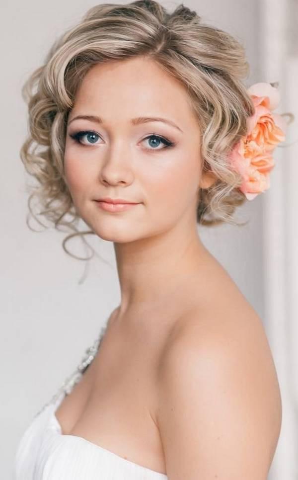Short Bridesmaid Hairstyles  Amazing 18 Wedding Hairstyles for Short Hair Brides