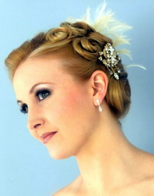 Short Bridesmaid Hairstyles  Short wedding Hair Ideas