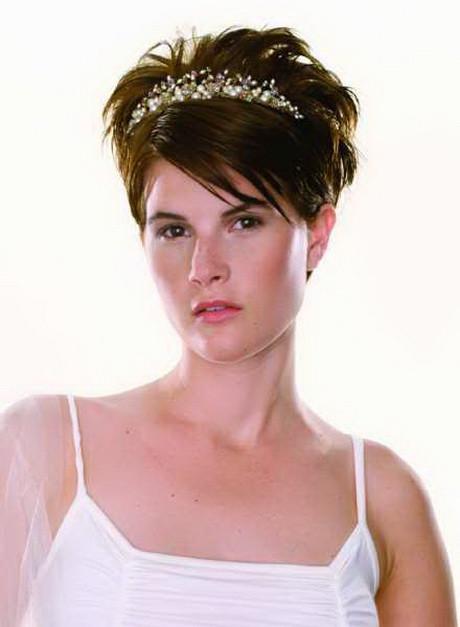 Short Bridesmaids Hairstyles  Very short bridal hairstyles